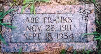 FRANKS, ABE - Newton County, Arkansas | ABE FRANKS - Arkansas Gravestone Photos