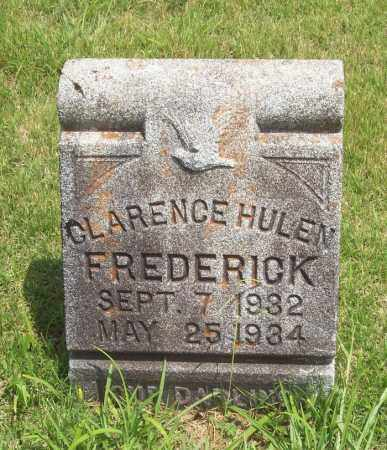 FREDERICK, CLARENCE HULEN - Newton County, Arkansas | CLARENCE HULEN FREDERICK - Arkansas Gravestone Photos