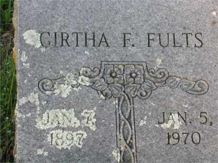FULTS, GIRTHA F. - Newton County, Arkansas | GIRTHA F. FULTS - Arkansas Gravestone Photos