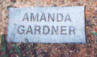 GARDNER, AMANDA - Newton County, Arkansas | AMANDA GARDNER - Arkansas Gravestone Photos
