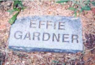 GARDNER, EFFIE - Newton County, Arkansas | EFFIE GARDNER - Arkansas Gravestone Photos
