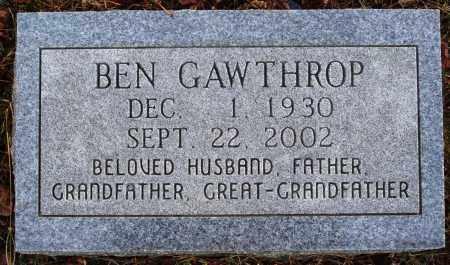 GAWTHROP, BEN - Newton County, Arkansas | BEN GAWTHROP - Arkansas Gravestone Photos