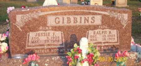 GIBBINS, JESSIE F. - Newton County, Arkansas | JESSIE F. GIBBINS - Arkansas Gravestone Photos