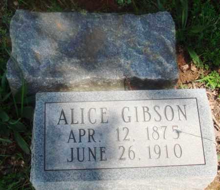 GIBSON, ALICE - Newton County, Arkansas | ALICE GIBSON - Arkansas Gravestone Photos