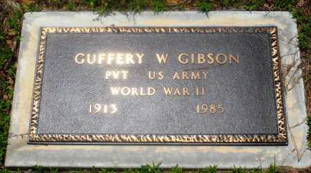 GIBSON (VETERAN WWII), GUFFERY W - Newton County, Arkansas | GUFFERY W GIBSON (VETERAN WWII) - Arkansas Gravestone Photos