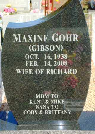 GOHR, MAXINE - Newton County, Arkansas | MAXINE GOHR - Arkansas Gravestone Photos