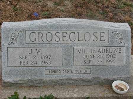 GROSECLOSE, MILLIE ADELINE - Newton County, Arkansas | MILLIE ADELINE GROSECLOSE - Arkansas Gravestone Photos