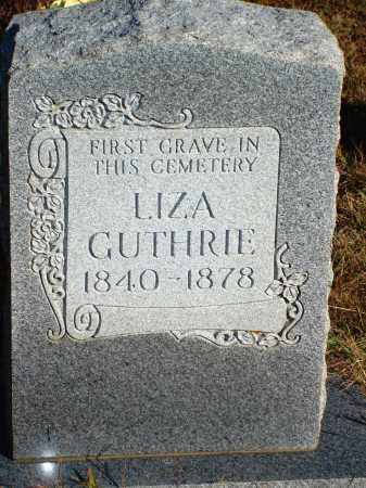 GUTHRIE, LIZA - Newton County, Arkansas | LIZA GUTHRIE - Arkansas Gravestone Photos