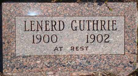 GUTHRIE, LENERD - Newton County, Arkansas | LENERD GUTHRIE - Arkansas Gravestone Photos