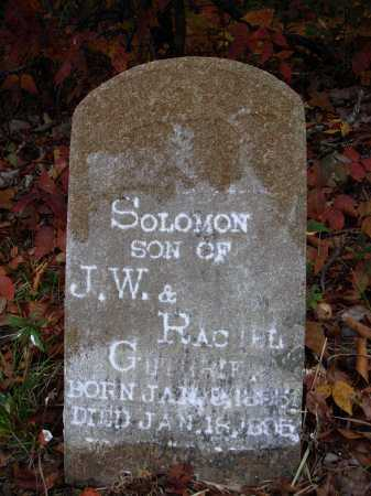 GUTHRIE, SOLOMON - Newton County, Arkansas | SOLOMON GUTHRIE - Arkansas Gravestone Photos