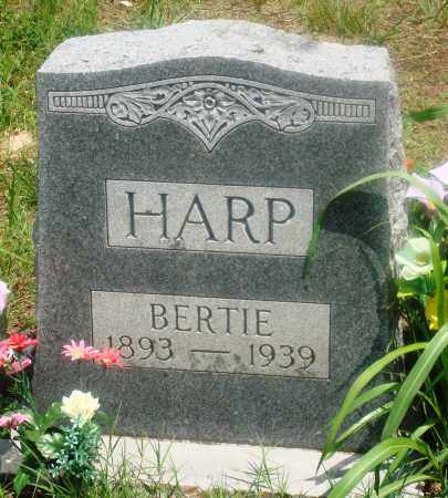 HARP, BERTIE - Newton County, Arkansas | BERTIE HARP - Arkansas Gravestone Photos