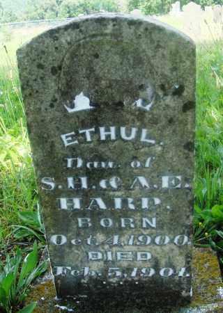 HARP, ETHUL - Newton County, Arkansas   ETHUL HARP - Arkansas Gravestone Photos