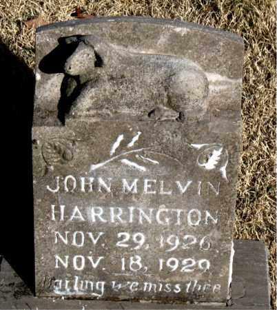 HARRINGTON, JOHN MELVIN - Newton County, Arkansas | JOHN MELVIN HARRINGTON - Arkansas Gravestone Photos