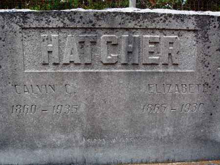 HATCHER, CALVIN C. - Newton County, Arkansas | CALVIN C. HATCHER - Arkansas Gravestone Photos