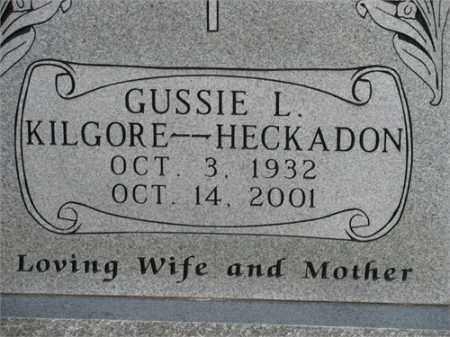HECKADON, GUSSIE L. - Newton County, Arkansas | GUSSIE L. HECKADON - Arkansas Gravestone Photos