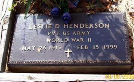 HENDERSON  (VETERAN WWII), LESLIE D - Newton County, Arkansas | LESLIE D HENDERSON  (VETERAN WWII) - Arkansas Gravestone Photos