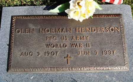 HENDERSON  (VETERAN WWII), OLEN NORMAN - Newton County, Arkansas | OLEN NORMAN HENDERSON  (VETERAN WWII) - Arkansas Gravestone Photos