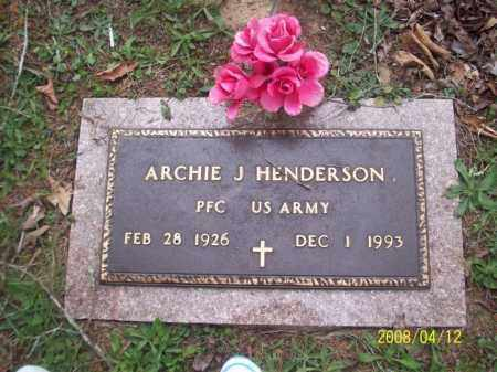 HENDERSON  (VETERAN), ARCHIE J - Newton County, Arkansas | ARCHIE J HENDERSON  (VETERAN) - Arkansas Gravestone Photos