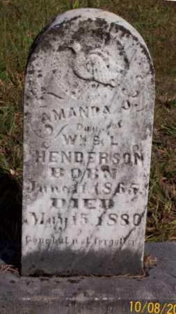 HENDERSON, AMANDA J. - Newton County, Arkansas | AMANDA J. HENDERSON - Arkansas Gravestone Photos