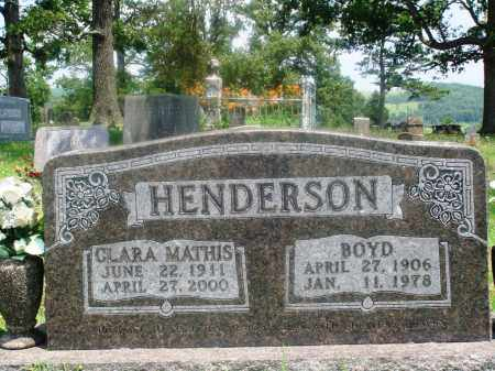 HENDERSON, BOYD - Newton County, Arkansas | BOYD HENDERSON - Arkansas Gravestone Photos