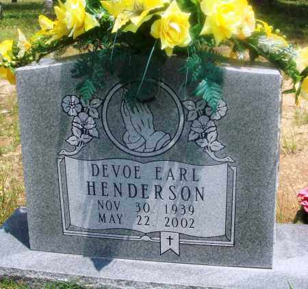 HENDERSON, DEVOE EARL - Newton County, Arkansas | DEVOE EARL HENDERSON - Arkansas Gravestone Photos