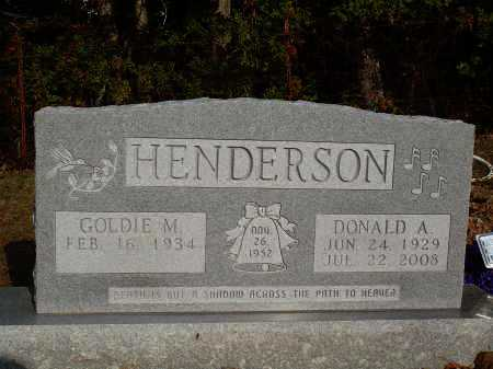 HENDERSON, DONALD A. - Newton County, Arkansas | DONALD A. HENDERSON - Arkansas Gravestone Photos