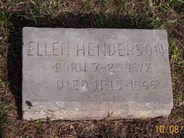 HENDERSON, ELLEN - Newton County, Arkansas | ELLEN HENDERSON - Arkansas Gravestone Photos