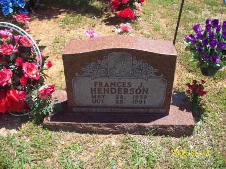 HENDERSON, FRANCES J - Newton County, Arkansas | FRANCES J HENDERSON - Arkansas Gravestone Photos