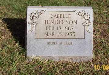 HENDERSON, ISABELLE - Newton County, Arkansas | ISABELLE HENDERSON - Arkansas Gravestone Photos