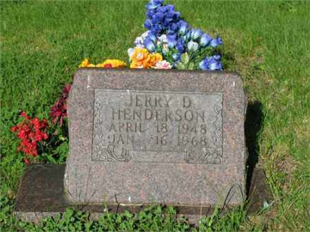 HENDERSON, JERRY D. - Newton County, Arkansas | JERRY D. HENDERSON - Arkansas Gravestone Photos