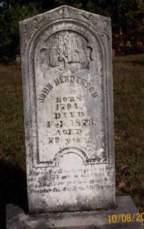 HENDERSON, JOHN - Newton County, Arkansas | JOHN HENDERSON - Arkansas Gravestone Photos