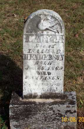 HENDERSON, MARY J. - Newton County, Arkansas | MARY J. HENDERSON - Arkansas Gravestone Photos