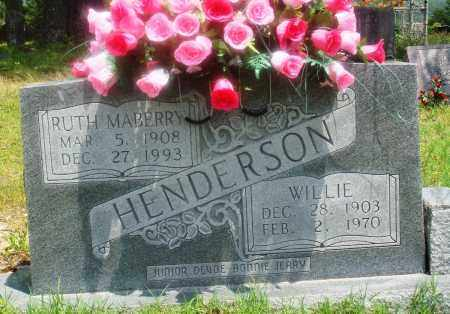 HENDERSON, WILLIE - Newton County, Arkansas | WILLIE HENDERSON - Arkansas Gravestone Photos
