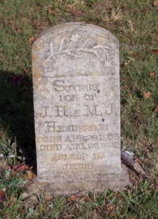 HENDERSON, SCYRUS - Newton County, Arkansas | SCYRUS HENDERSON - Arkansas Gravestone Photos