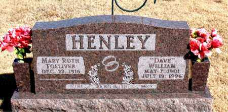 "HENLEY, WILLIAM ""DAVE"" - Newton County, Arkansas | WILLIAM ""DAVE"" HENLEY - Arkansas Gravestone Photos"