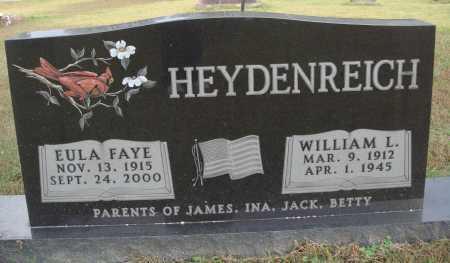 HEYDENREICH, WILLIAM L. - Newton County, Arkansas | WILLIAM L. HEYDENREICH - Arkansas Gravestone Photos