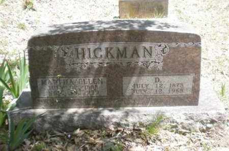 HICKMAN, MARTHA ELLEN - Newton County, Arkansas | MARTHA ELLEN HICKMAN - Arkansas Gravestone Photos