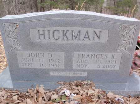 HICKMAN, JOHN D. - Newton County, Arkansas | JOHN D. HICKMAN - Arkansas Gravestone Photos