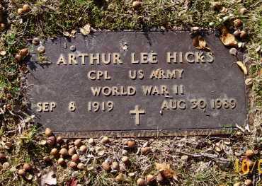 HICKS  (VETERAN WWII), ARTHUR LEE - Newton County, Arkansas | ARTHUR LEE HICKS  (VETERAN WWII) - Arkansas Gravestone Photos