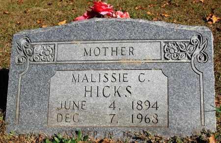 HICKS, MALISSIE C. - Newton County, Arkansas | MALISSIE C. HICKS - Arkansas Gravestone Photos