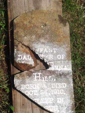 HILL, INFANT DAUGHTER - Newton County, Arkansas | INFANT DAUGHTER HILL - Arkansas Gravestone Photos