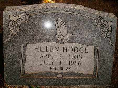 HODGE, HULEN - Newton County, Arkansas | HULEN HODGE - Arkansas Gravestone Photos