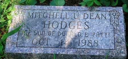 HODGES, MITCHELL U. DEAN - Newton County, Arkansas | MITCHELL U. DEAN HODGES - Arkansas Gravestone Photos