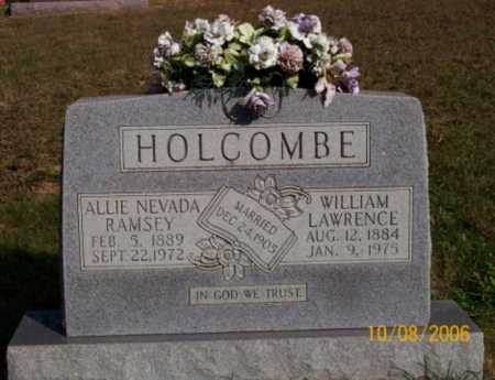 RAMSEY HOLCOMBE, ALLIE NEVADA - Newton County, Arkansas | ALLIE NEVADA RAMSEY HOLCOMBE - Arkansas Gravestone Photos