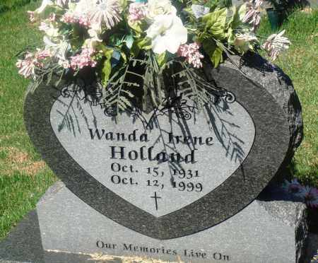 HOLLAND, WANDA IRENE - Newton County, Arkansas | WANDA IRENE HOLLAND - Arkansas Gravestone Photos