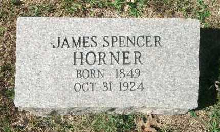 HORNER, JAMES SPENCER - Newton County, Arkansas | JAMES SPENCER HORNER - Arkansas Gravestone Photos