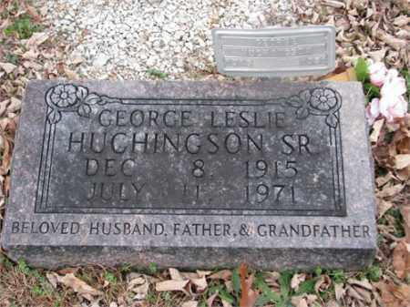 HUCHINGSON, SR, GEORGE LESLIE - Newton County, Arkansas | GEORGE LESLIE HUCHINGSON, SR - Arkansas Gravestone Photos