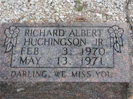 HUCHINGSON, JR, RICHARD ALBERT - Newton County, Arkansas | RICHARD ALBERT HUCHINGSON, JR - Arkansas Gravestone Photos