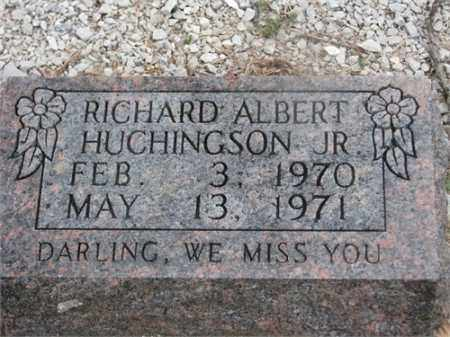 HUCHINGSTON, JR, RICHARD ALBERT - Newton County, Arkansas | RICHARD ALBERT HUCHINGSTON, JR - Arkansas Gravestone Photos