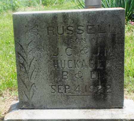 HUCKABEE, RUSSELL - Newton County, Arkansas | RUSSELL HUCKABEE - Arkansas Gravestone Photos